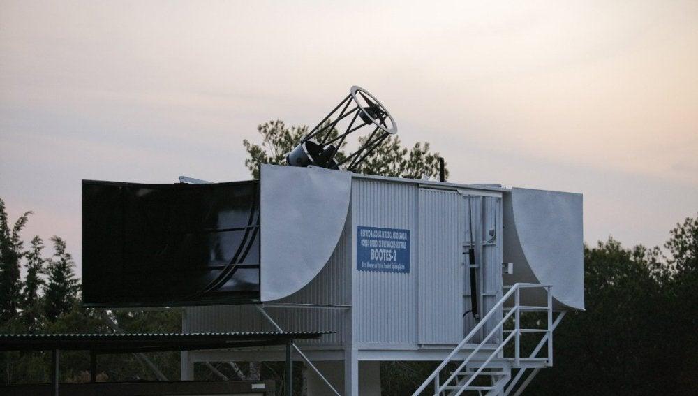El telescopio Bootes 2 en Algarrobo (Málaga)
