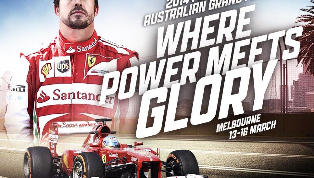 Cartel del GP de Australia 2014