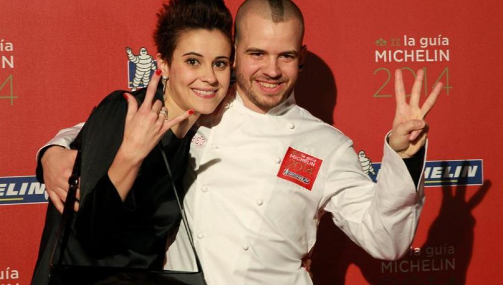 El chef David Muñoz y su esposa Ángela Montero, del restaurante DiverXO de Madrid