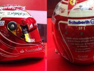 El casco de la despedida de Massa en Brasil