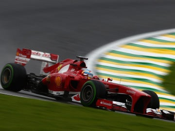 Alonso, a bordo del F138