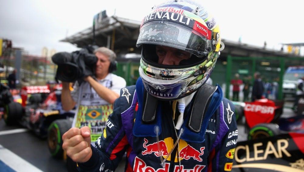 Vettel celebra la pole