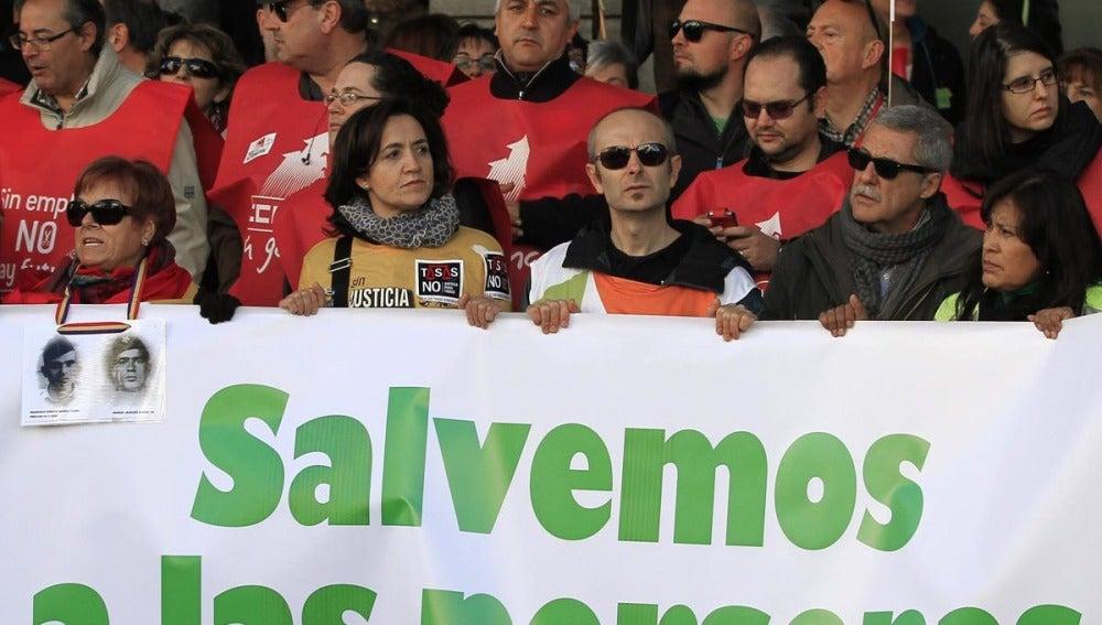Manifestación en Madrid por lo público
