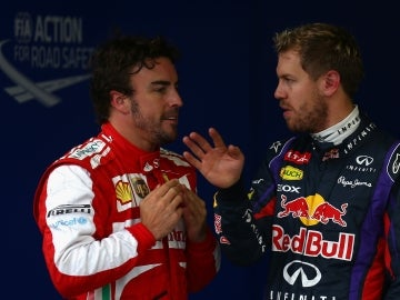 Alonso y Vettel en Interlagos