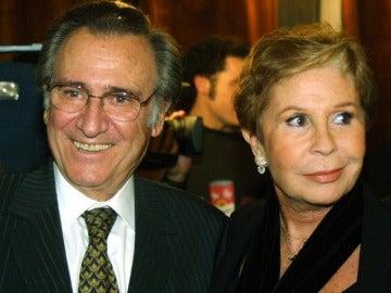 Lina Morgan junto a su gran amigo Manolo Escobar