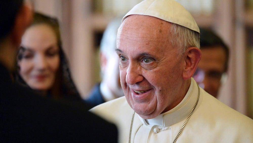 El Papa en una audiencia