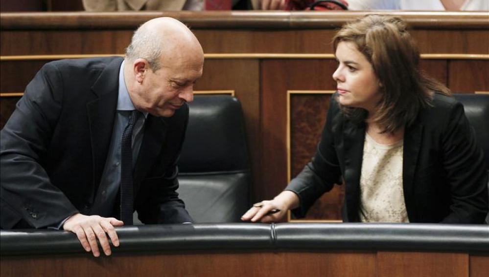 Wert y la vicepresidenta en el Congreso