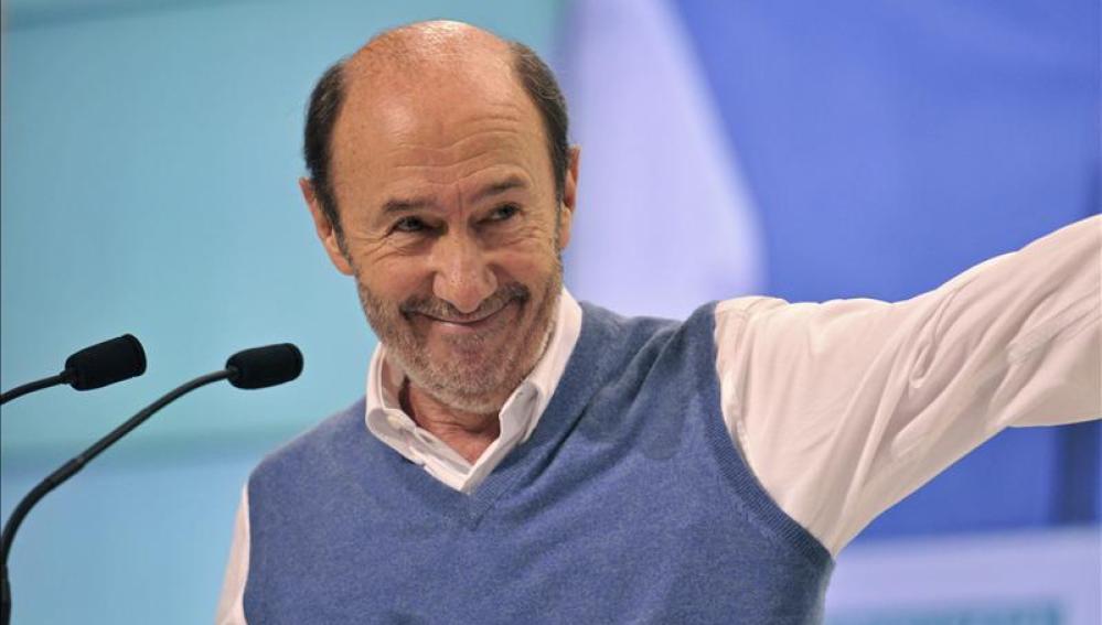 El líder del PSOE, Alfredo Pérez Rubalcaba