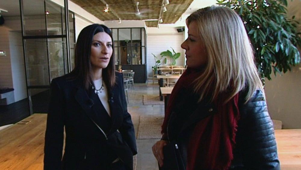 Laura Pausini, en una entrevista con Antena 3