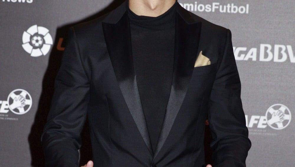 Cristiano Ronaldo, en la gala de la LFP