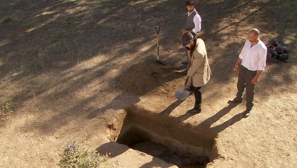 Fernando entierra vivo a Gonzalo