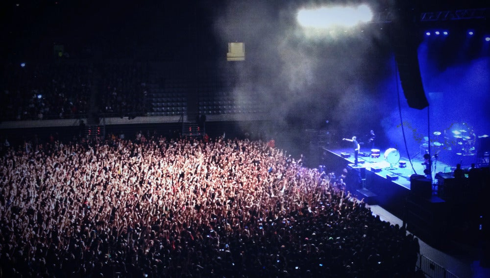 Momento del concierto de Imagine Dragons en Barcelona.