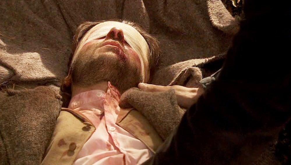 Conrado encuentra a Gonzalo moribundo