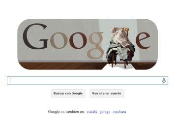 La obra de Tàpies, en el doodle de Google