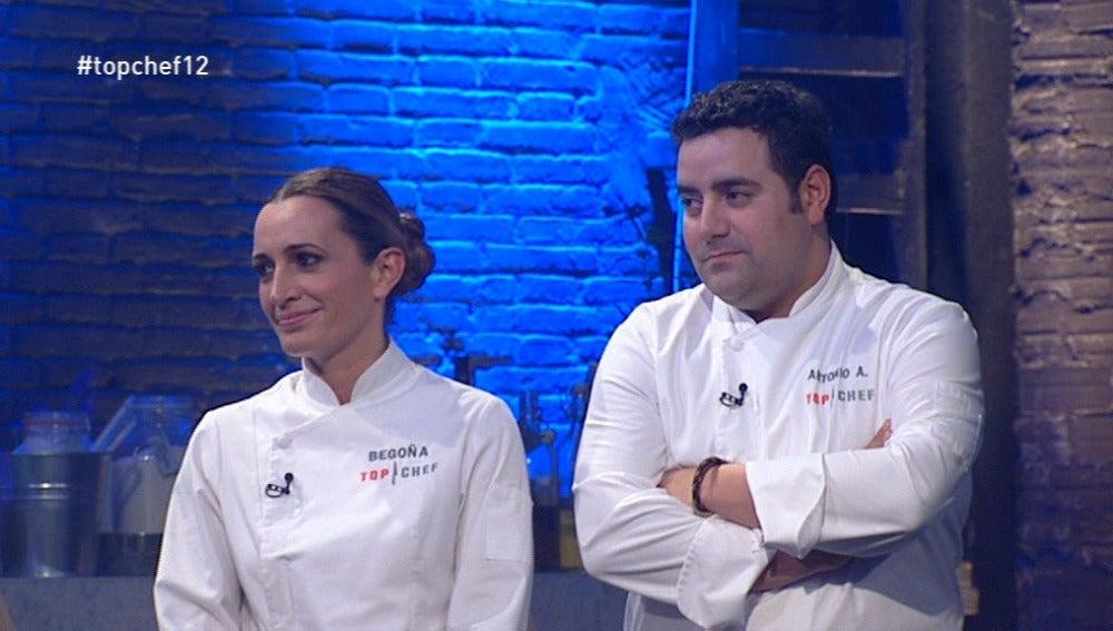 Begoña Rodrigo y Antonio Arrabal
