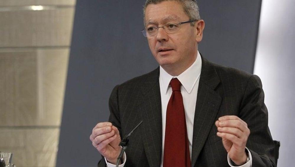 Alberto Ruiz-Gallardón, tras el Consejo de Ministros