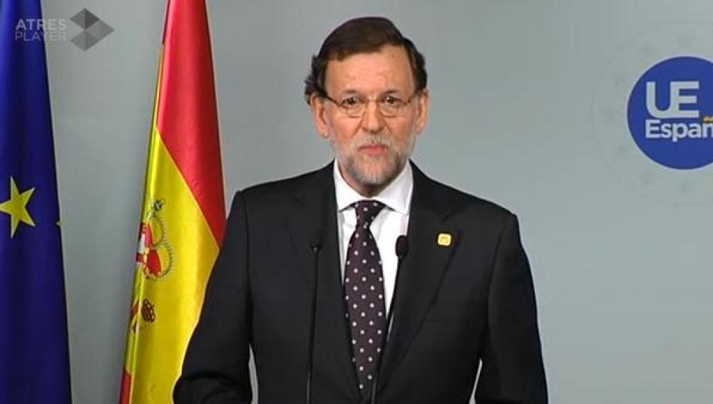 Mariano Rajoy desde Bruselas