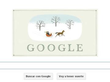 El doodle de Google felicita la Navidad