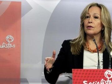 La secretaria de Política Social del PSOE, Trinidad Jiménez
