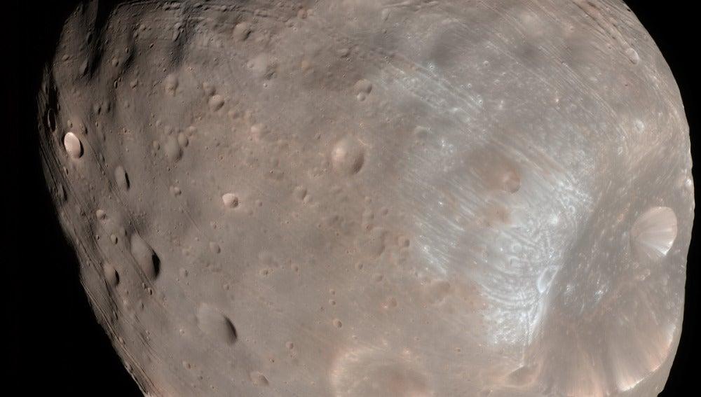 Fobos, la mayor luna de Marte