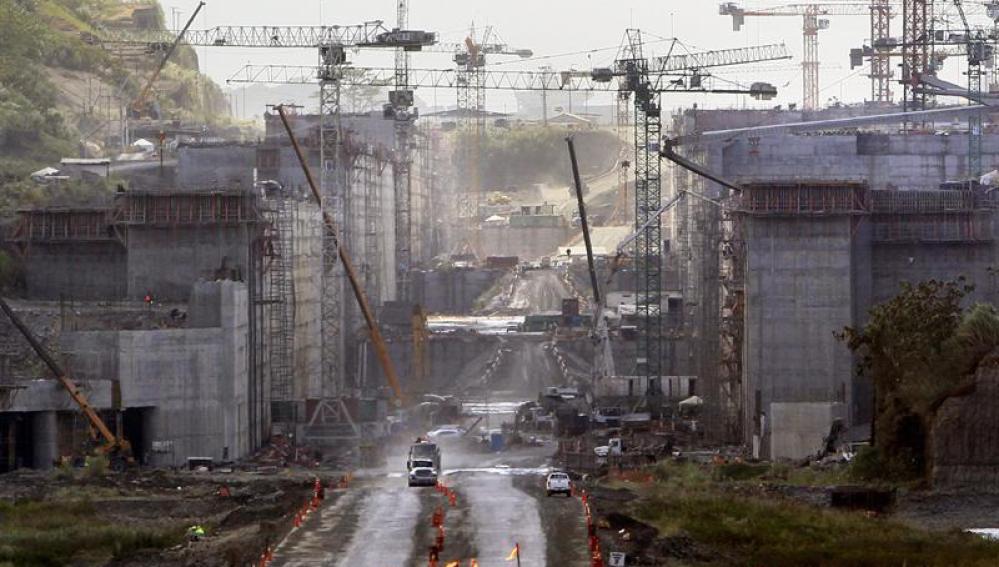 Vista general de las obras de ampliación del Canal de Panamá