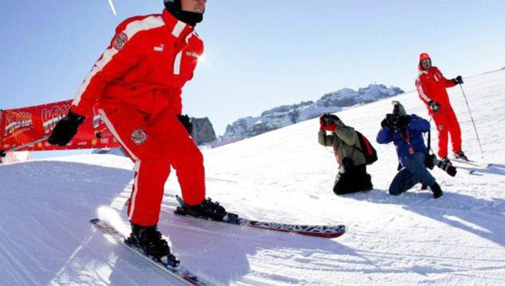 Michael Schumacher esquiando en una imagen de archivo