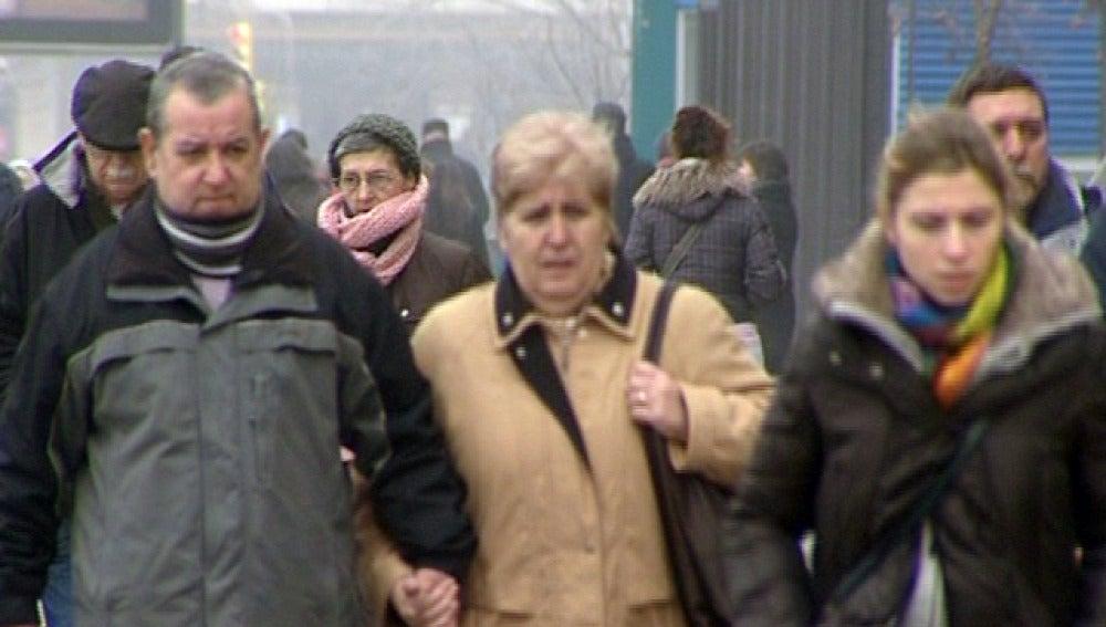 El frío se nota en las calles españolas