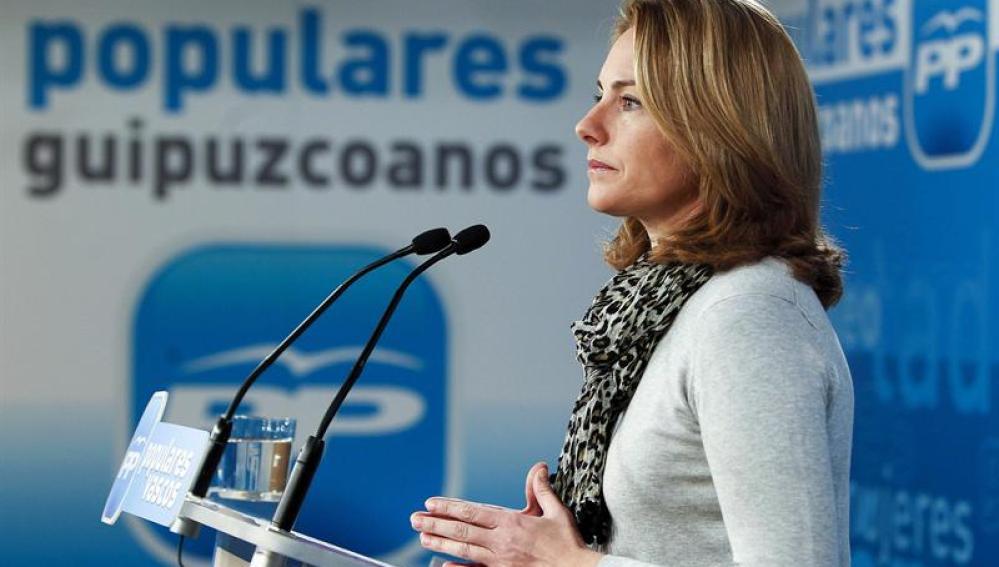 La presidenta del Partido Popular en el País Vasco, Arantza Quiroga