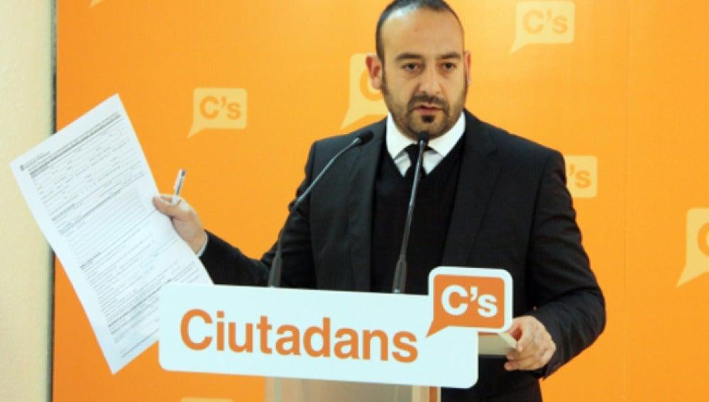 El diputado de Ciutadans Jordi Cañas en un acto del partido.