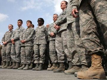 Grupo de militares de las Fuerzas Armadas de EEUU