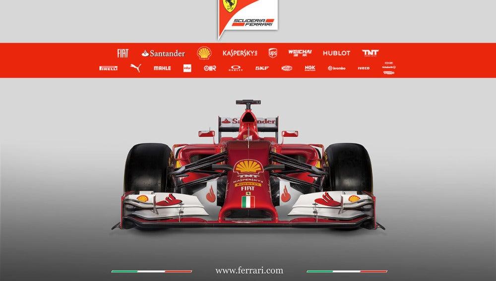 El nuevo Ferrari F14-T de frente