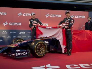 Daniil Kvyat y Vergne en Jerez