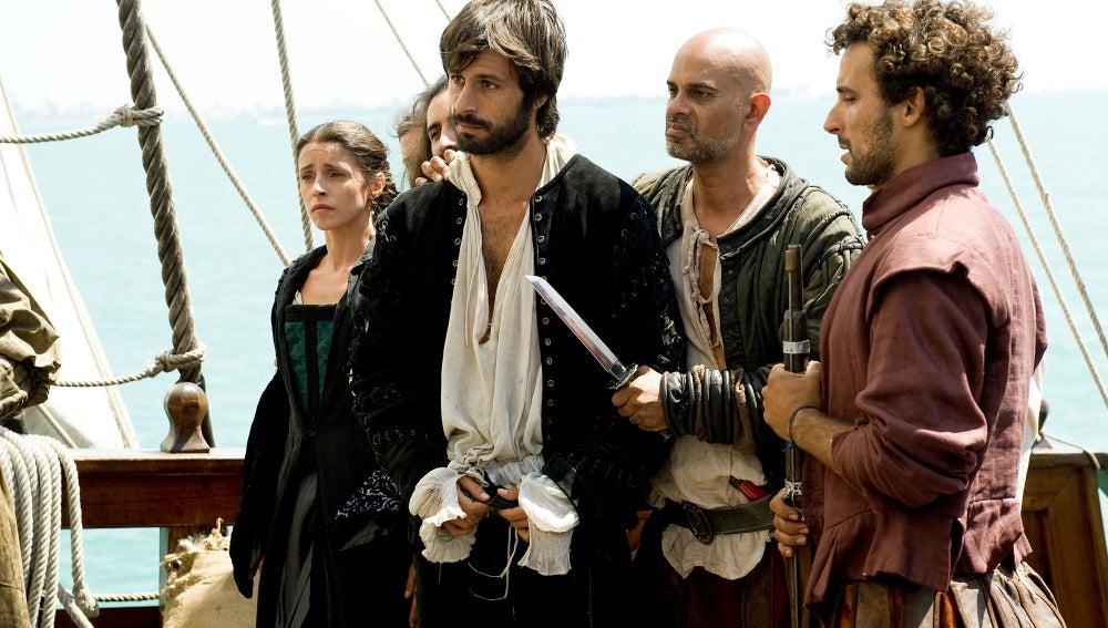 Juan de Salazar es detenido por los piratas