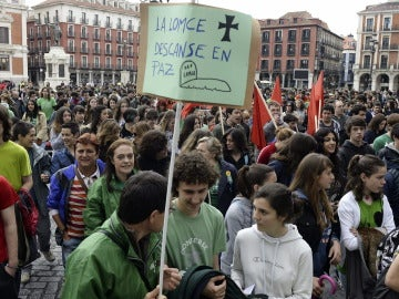 Manifestación contra la Lomce en 2015