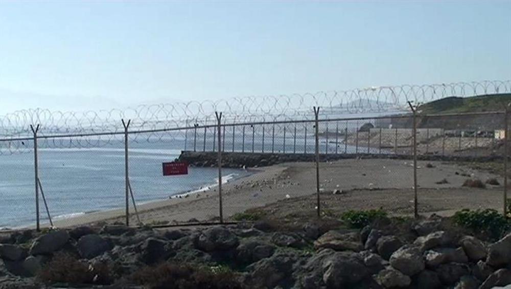 Frontera entre Ceuta y Marruecos