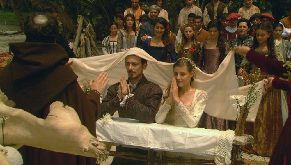 Trejo y María se casan