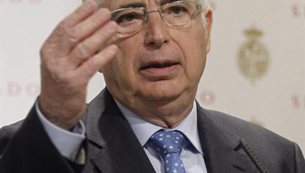 El presidente de Melilla, Juan José Imbroda, durante su comparecencia en el Senado