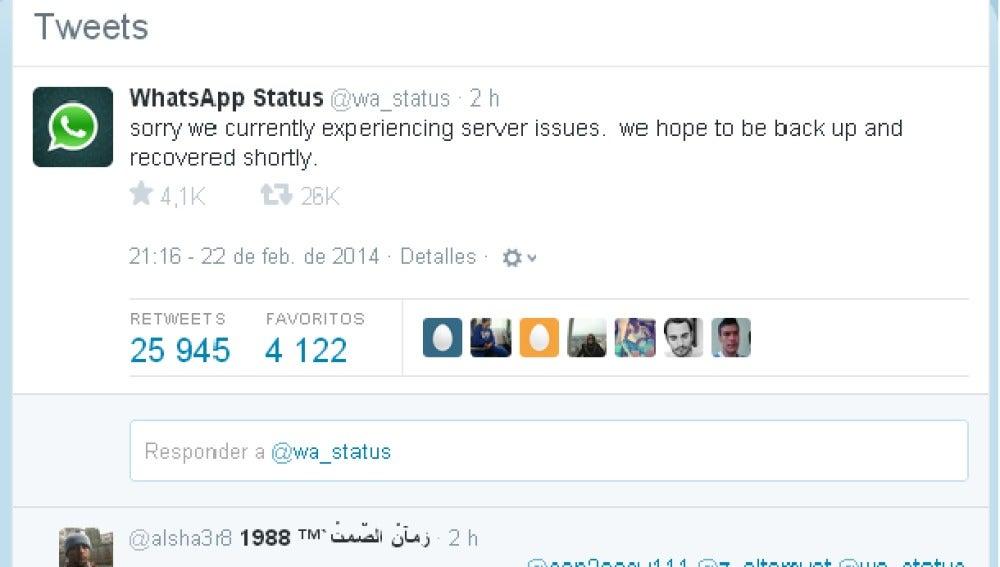 WhatsApp pide disculpas
