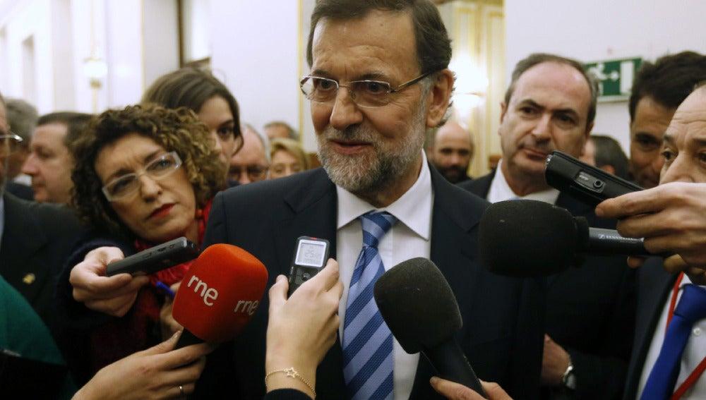 Rajoy, a la salida del Congreso de los Diputados