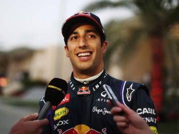 Daniel Ricciardo, en el trazado de Baréin