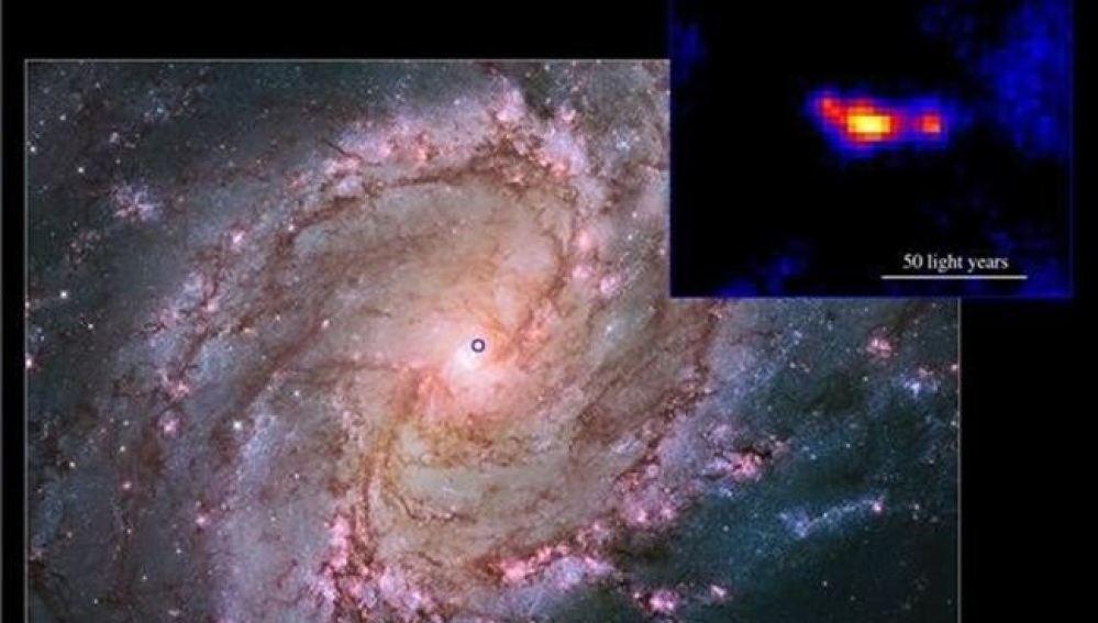 Descubren un agujero negro con una estructura mayor al del Sistema Solar
