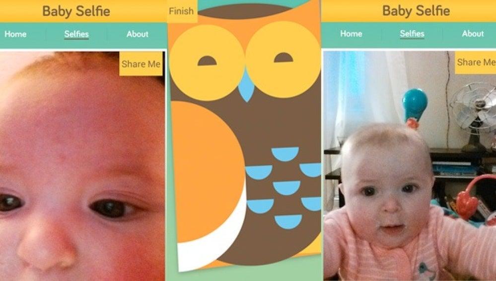 Bebés haciendo 'selfies'