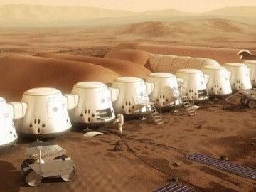 Recreación de una colonia humana en Marte