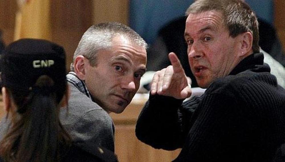 Joseba Permach y Arnaldo Otegi, en un juicio por enaltecimiento a ETA.