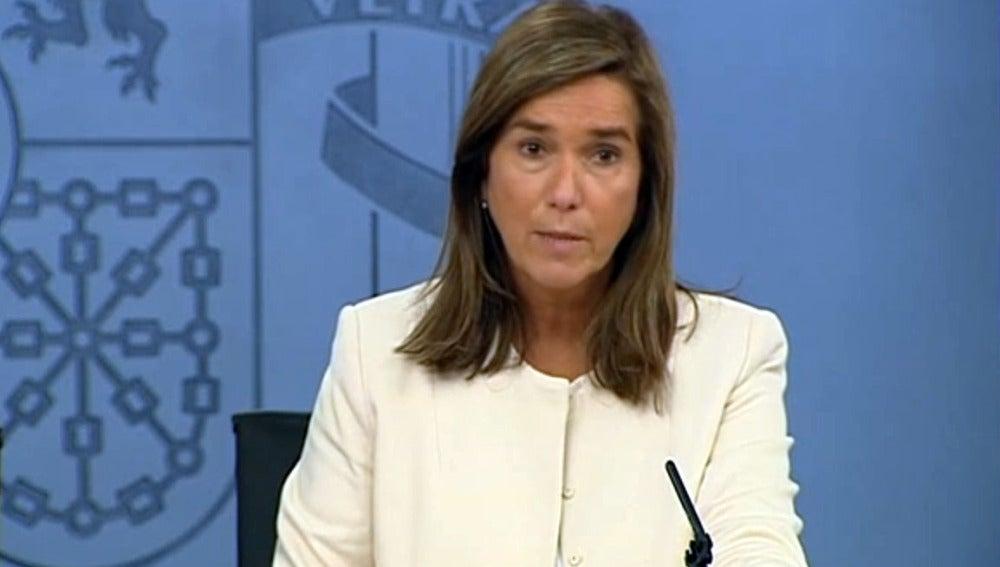 Ana Mato en la rueda de prensa posterior al Consejo