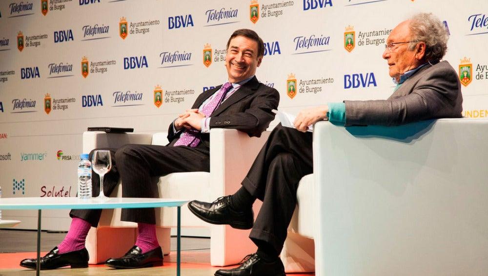 Pedro J. Ramírez charla con Eduard Punset
