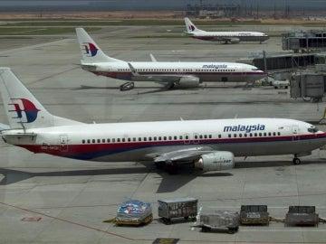 Imagen de archivo de varios aviones de Malaysian Airlines