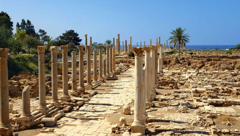 Restos de la antigua ciudad de Tiro
