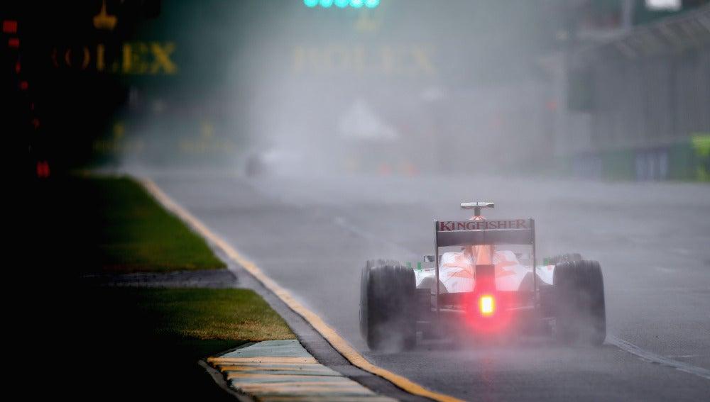 Lluvia en el GP de Australia de 2013
