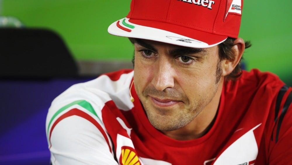 Alonso en la rueda de prensa de Australia